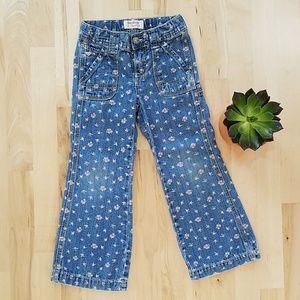 VTG Toddler's Oshkosh B'Gosh Floral Flare Jeans